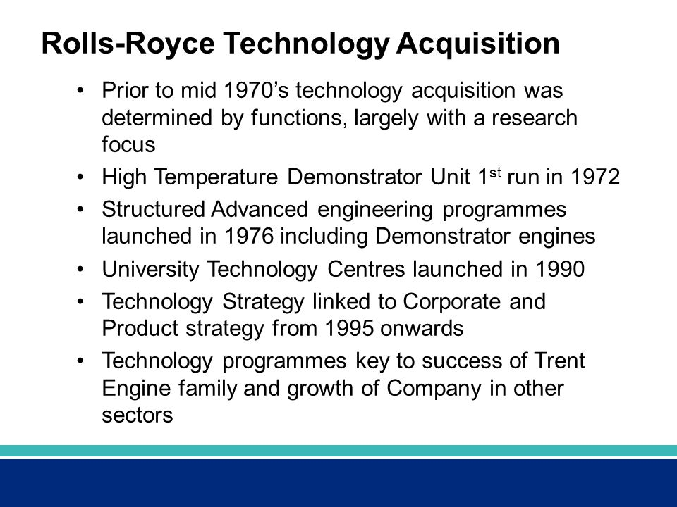 Rolls-Royce Technology Acquisition