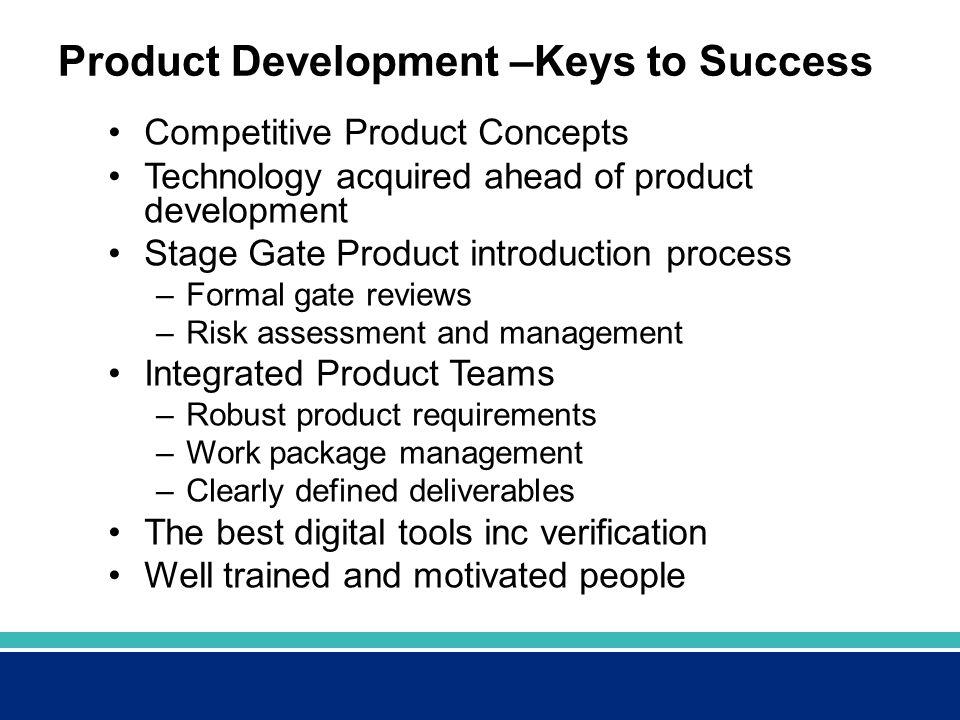 Product Development –Keys to Success