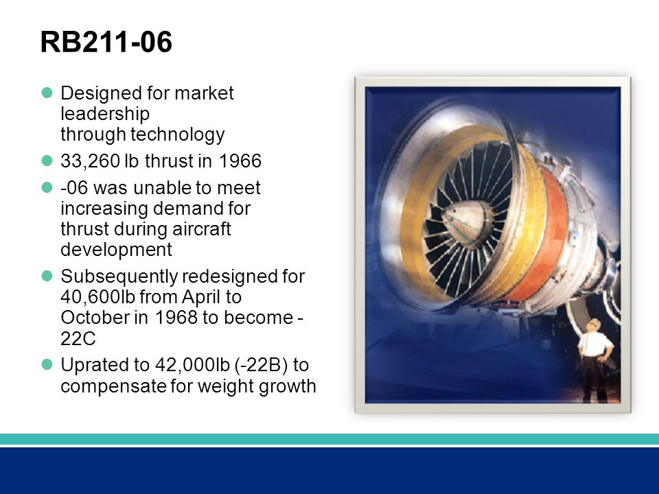 RB211-06 Designed for market leadership through technology