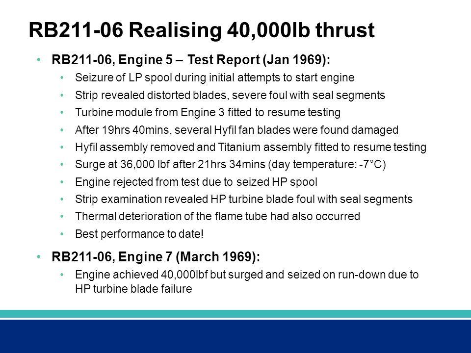 RB211-06 Realising 40,000lb thrust