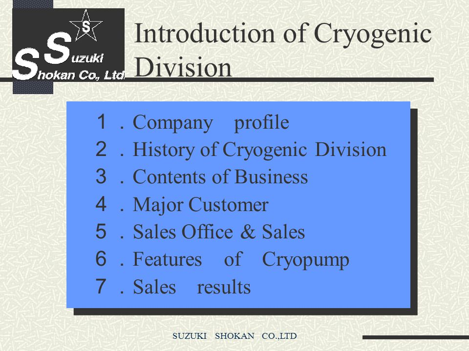 Introduction of Cryogenic Division