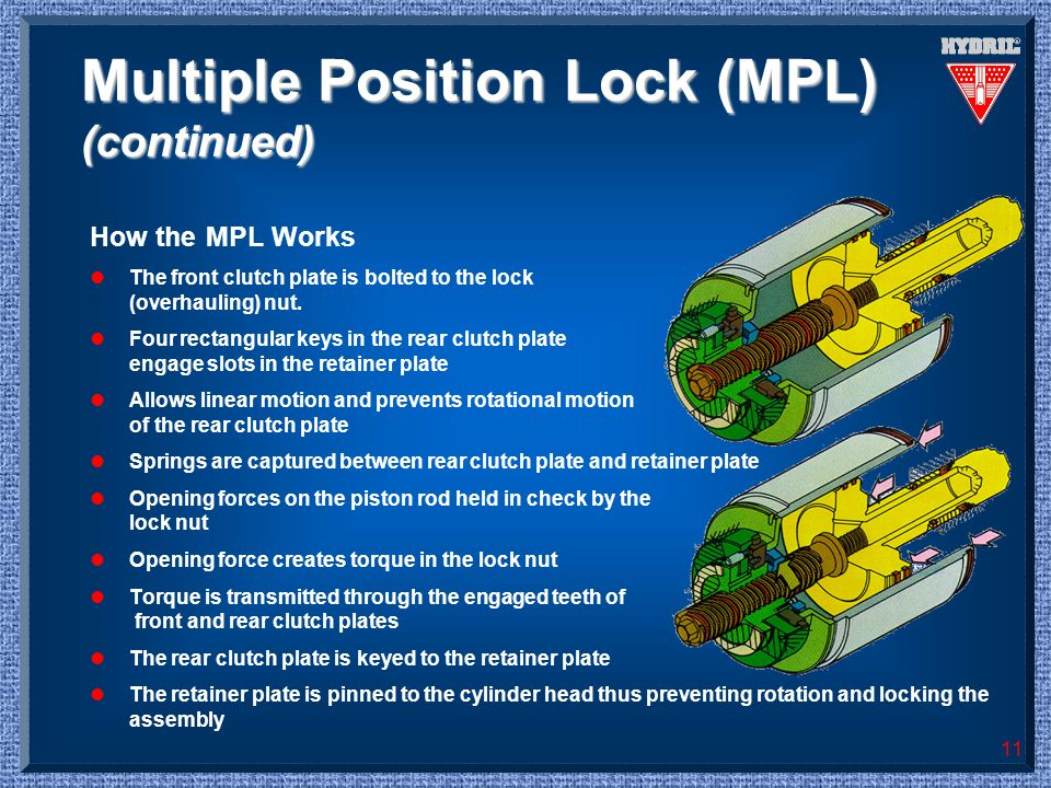 Multiple Position Lock (MPL) (continued)