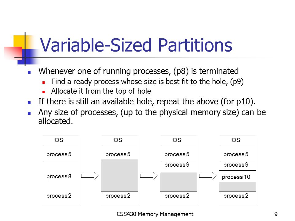 Variable-Sized Partitions