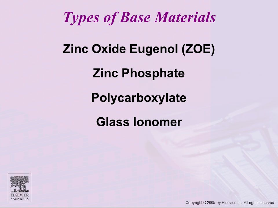 Types of Base Materials