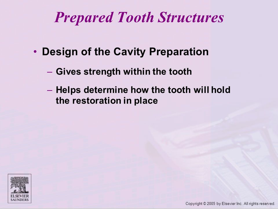 Prepared Tooth Structures