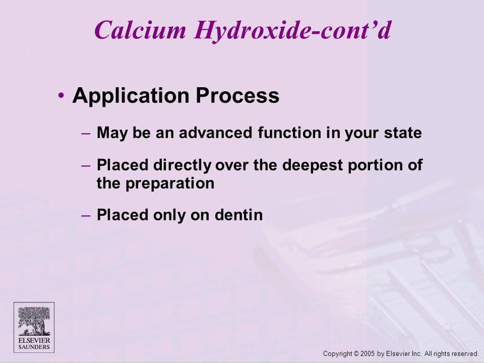 Calcium Hydroxide-cont'd