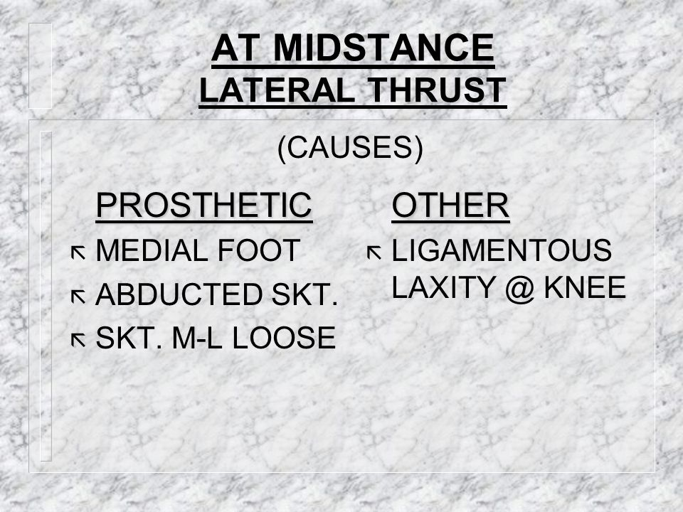 AT MIDSTANCE LATERAL THRUST