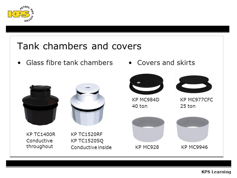 Tank chambers and covers