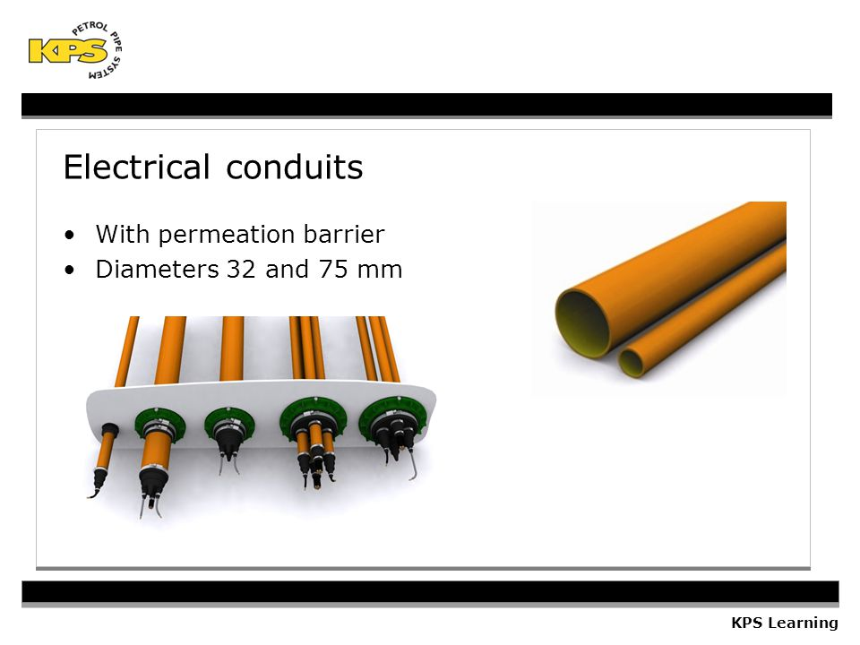 Electrical conduits With permeation barrier Diameters 32 and 75 mm
