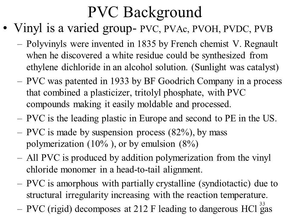 PVC Background Vinyl is a varied group- PVC, PVAc, PVOH, PVDC, PVB