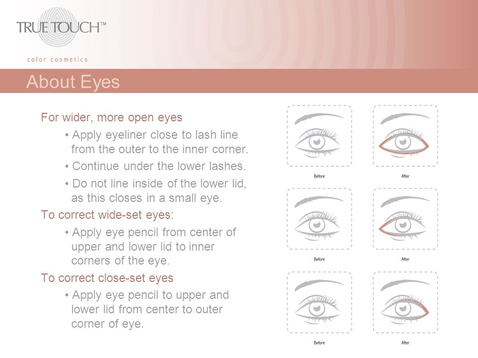 About Eyes For wider, more open eyes