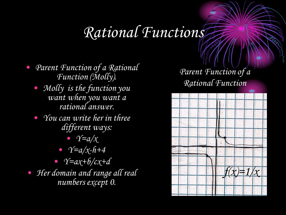 Rational Functions Parent Function of a Rational Function (Molly).