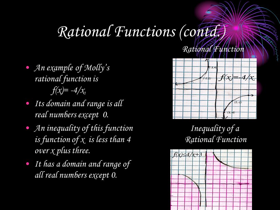 Rational Functions (contd.)