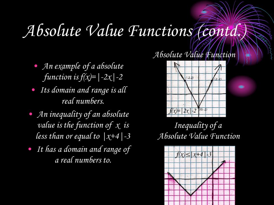 Absolute Value Functions (contd.)