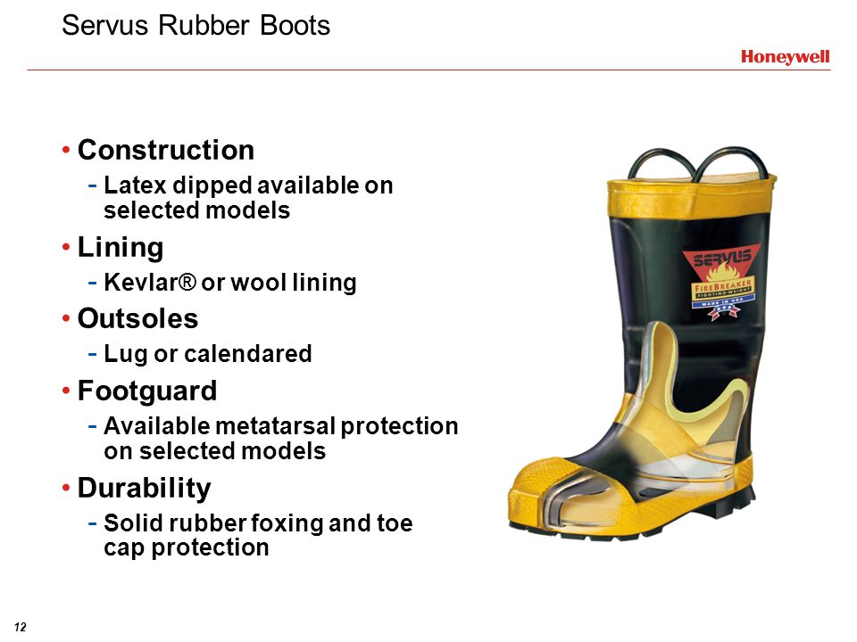 Servus Rubber Boots Construction Lining Outsoles Footguard Durability