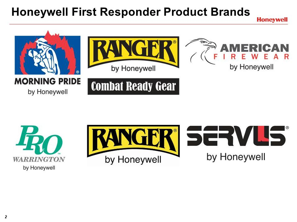 Honeywell First Responder Product Brands