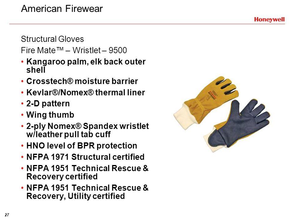 American Firewear Structural Gloves Fire Mate™ – Wristlet – 9500