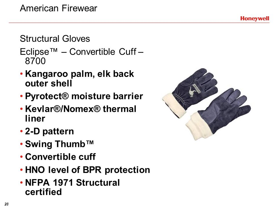 American Firewear Structural Gloves. Eclipse™ – Convertible Cuff – 8700. Kangaroo palm, elk back outer shell.