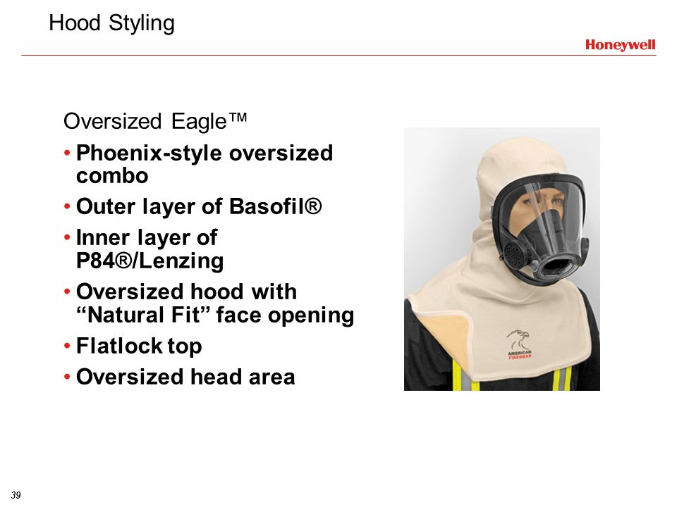 Hood Styling Oversized Eagle™ Phoenix-style oversized combo. Outer layer of Basofil® Inner layer of P84®/Lenzing.
