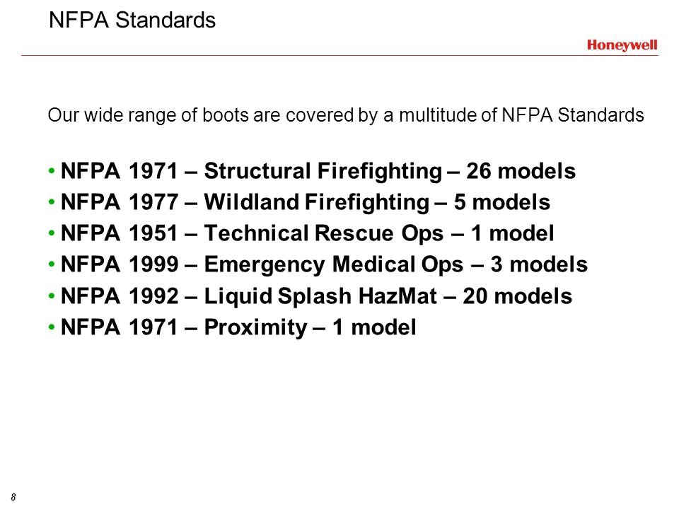 NFPA 1971 – Structural Firefighting – 26 models
