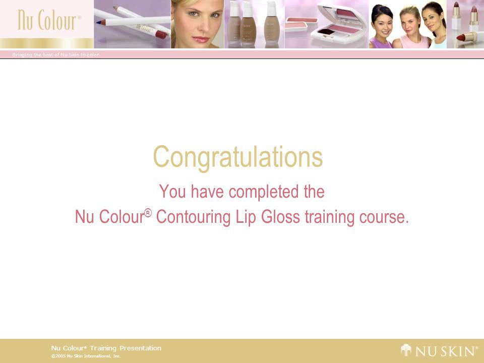 Nu Colour® Contouring Lip Gloss training course.