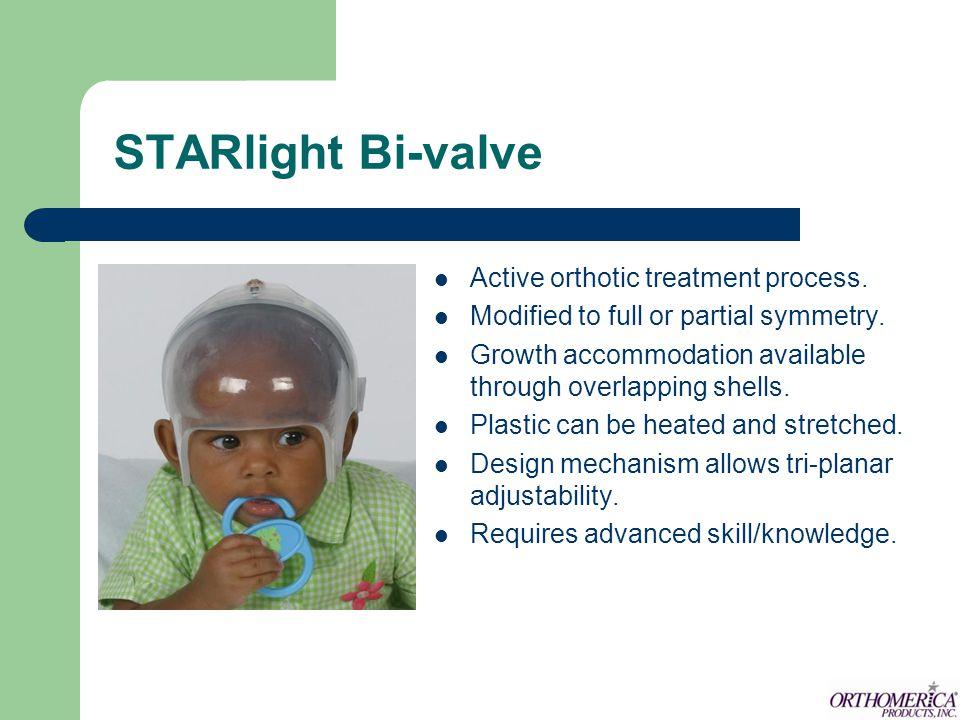 STARlight Bi-valve Active orthotic treatment process.