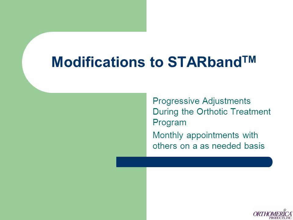 Modifications to STARbandTM