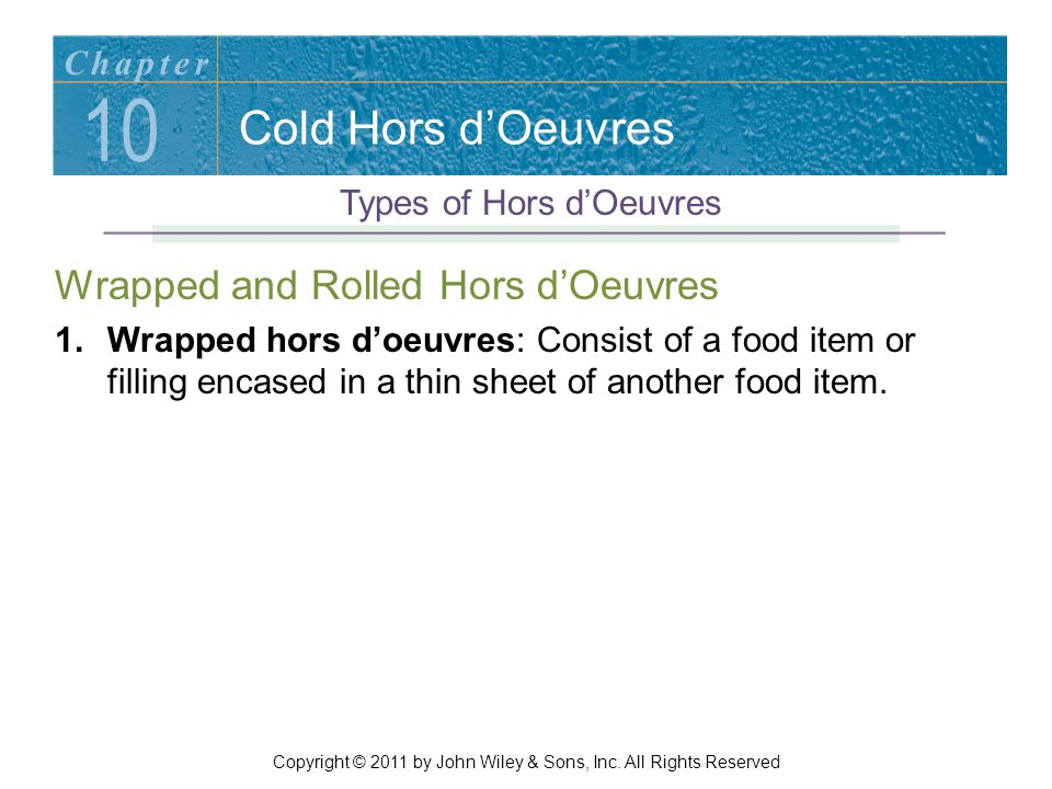 10 Cold Hors d'Oeuvres Wrapped and Rolled Hors d'Oeuvres Chapter