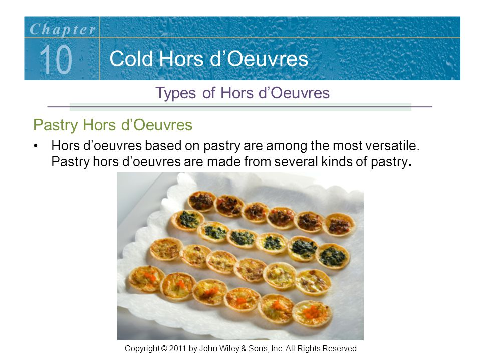 10 Cold Hors d'Oeuvres Chapter Types of Hors d'Oeuvres