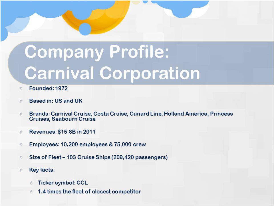 Company Profile: Carnival Corporation