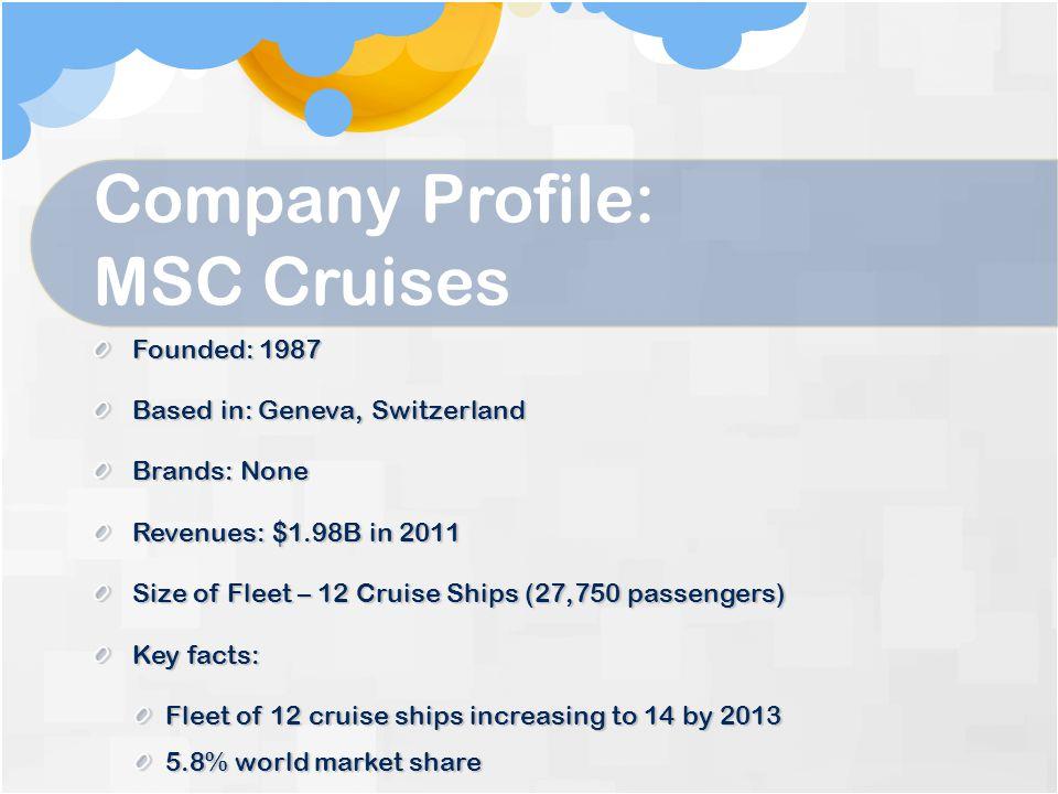 Company Profile: MSC Cruises