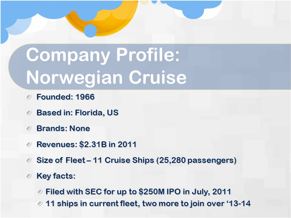 Company Profile: Norwegian Cruise