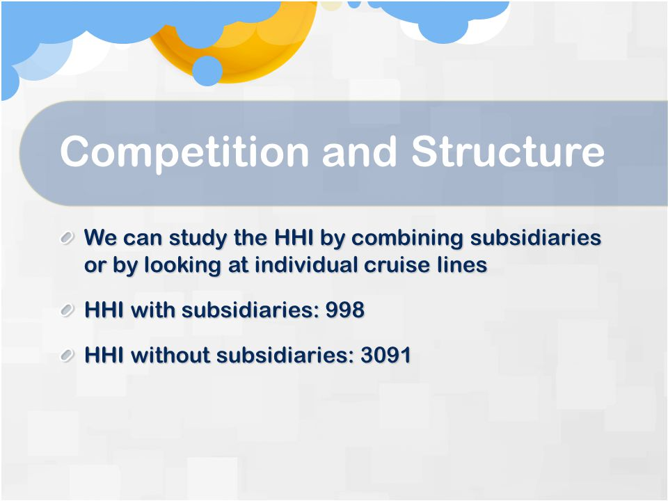 Competition and Structure