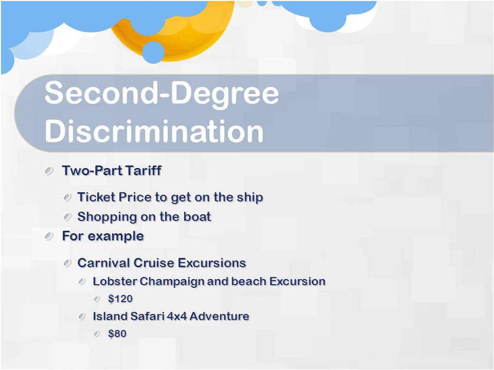Second-Degree Discrimination