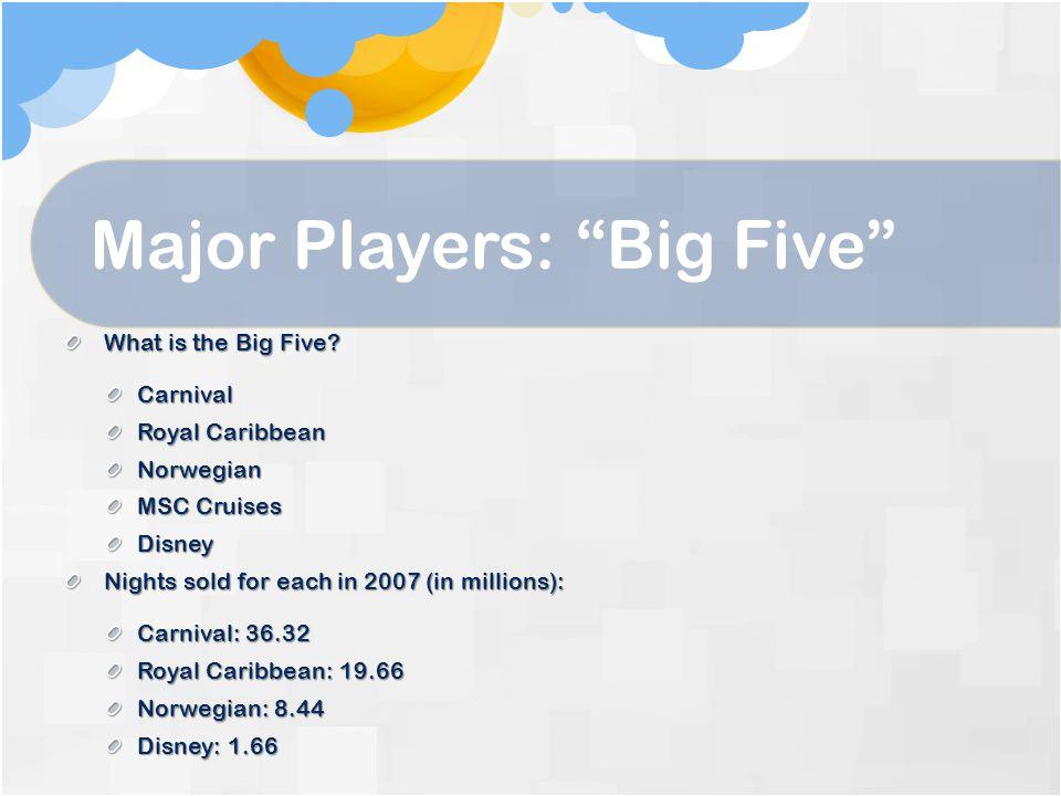 Major Players: Big Five