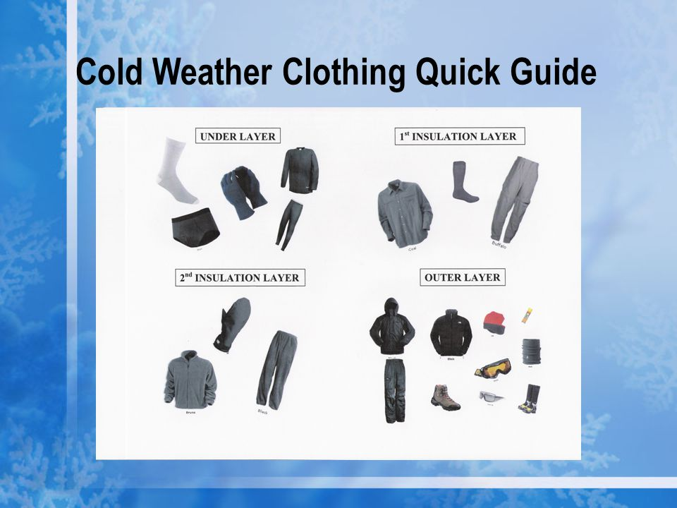 Cold Weather Clothing Quick Guide