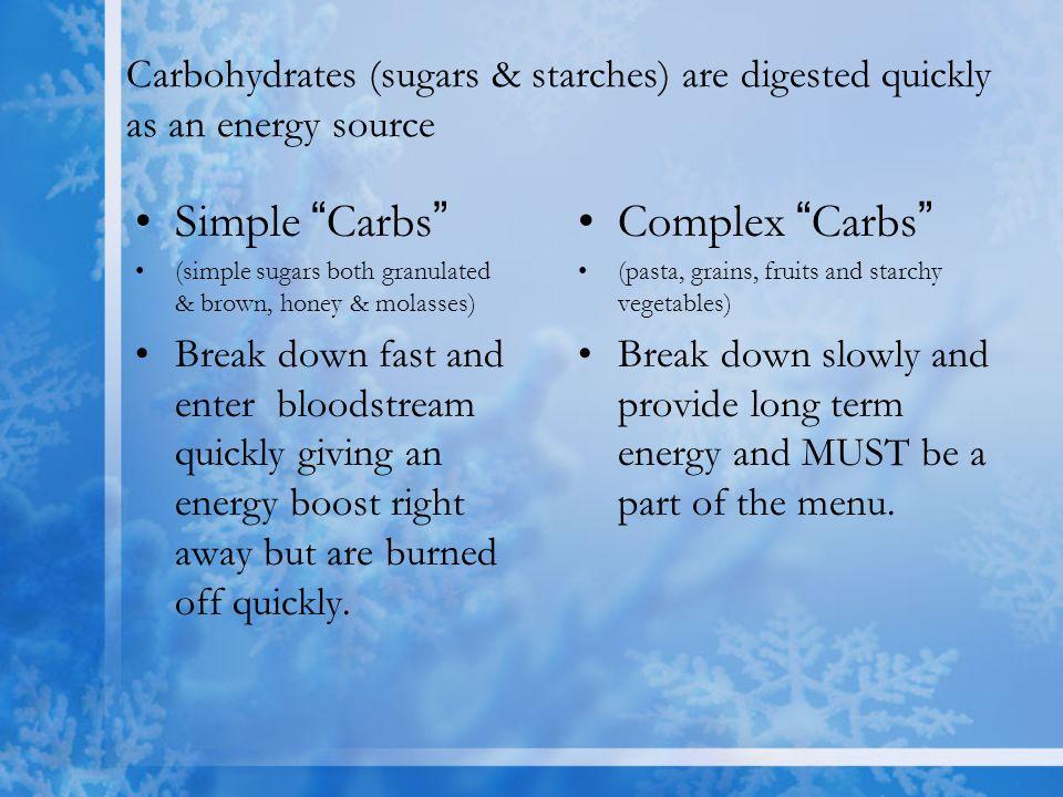 Simple Carbs Complex Carbs