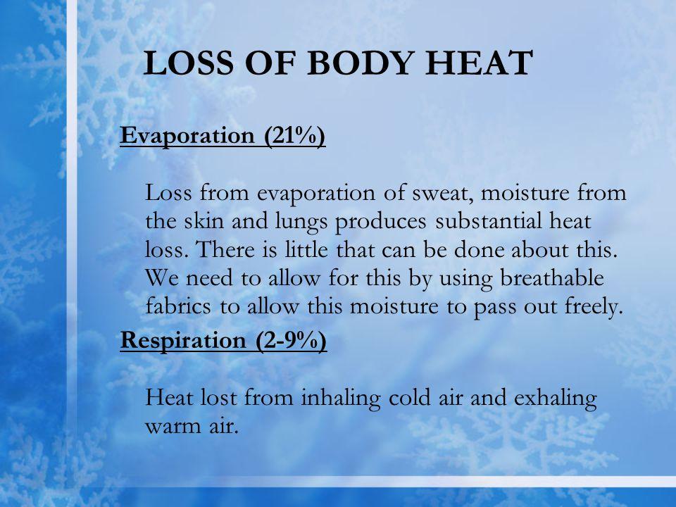 LOSS OF BODY HEAT