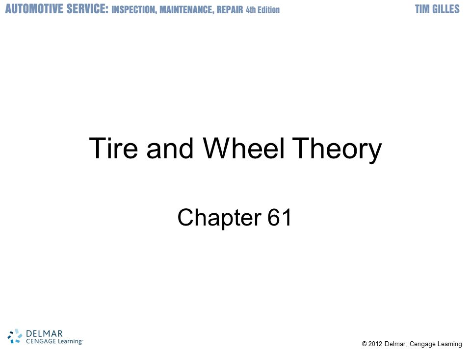 Tire and Wheel Theory Chapter 61