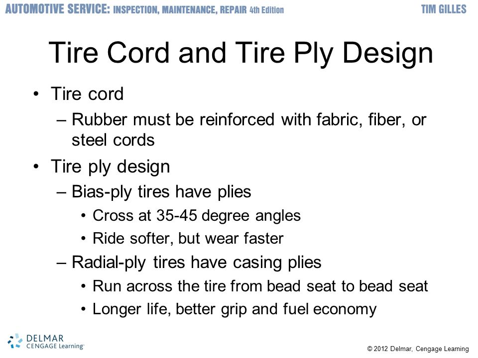 Tire Cord and Tire Ply Design