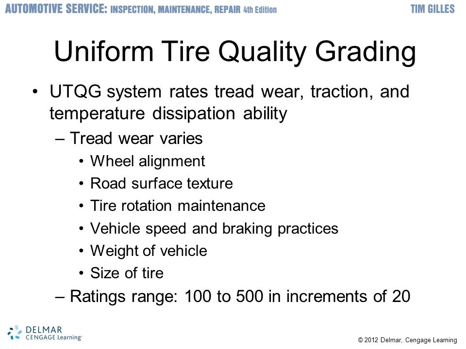 Uniform Tire Quality Grading