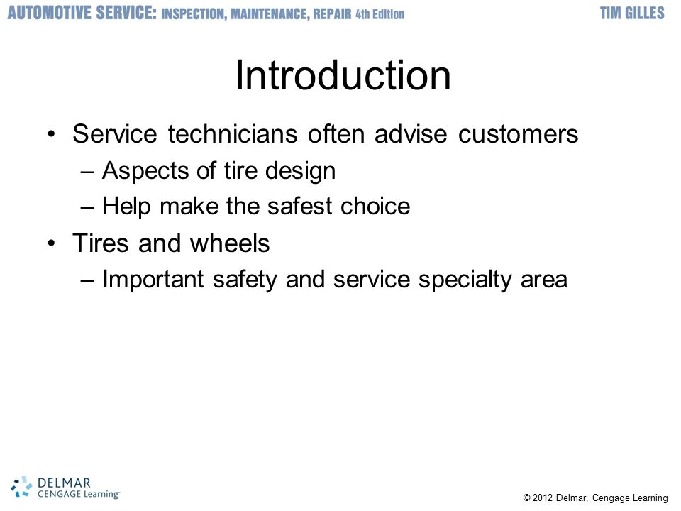 Introduction Service technicians often advise customers