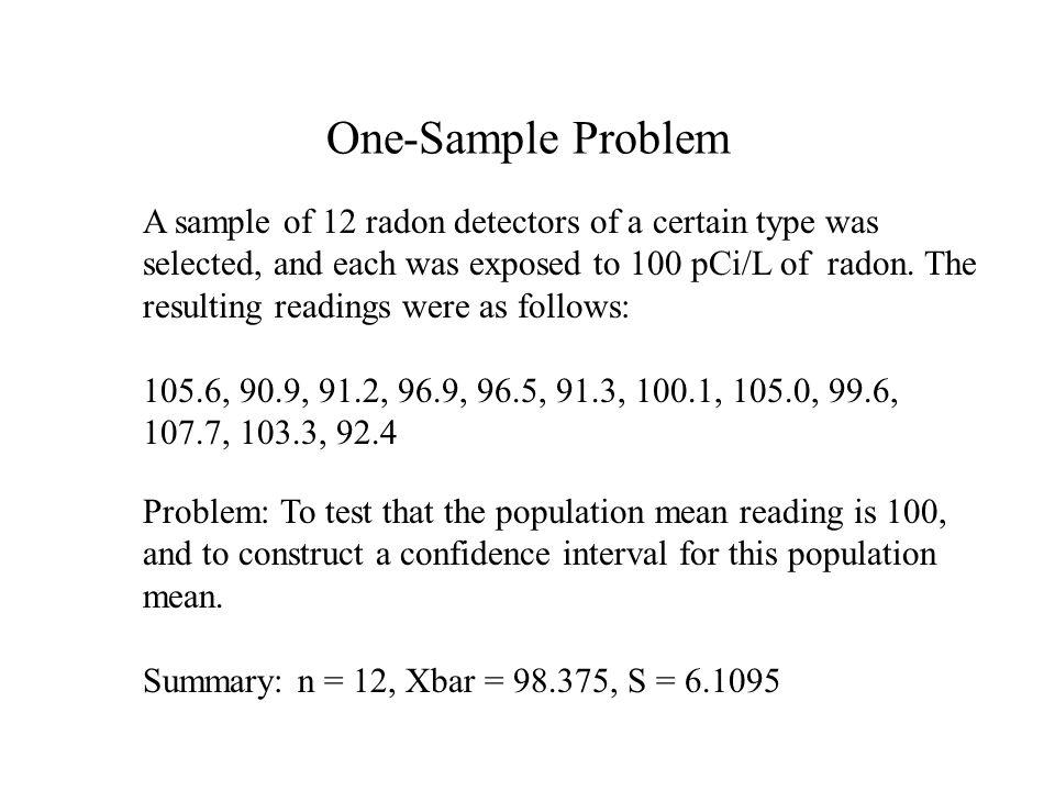 One-Sample Problem