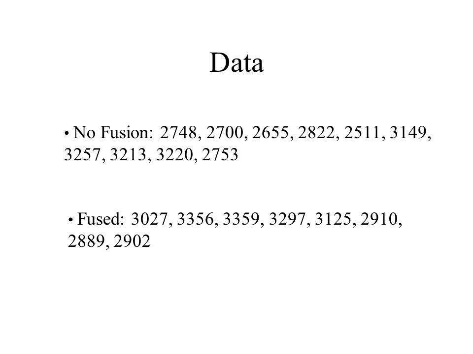 Data No Fusion: 2748, 2700, 2655, 2822, 2511, 3149, 3257, 3213, 3220, 2753.