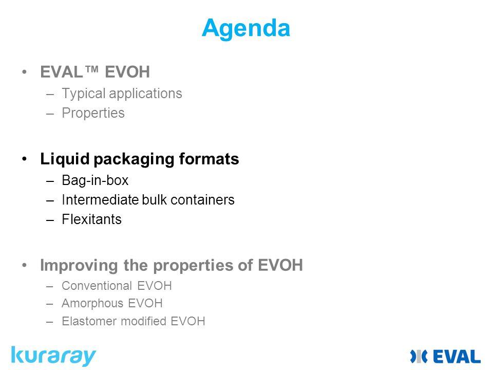 Agenda EVAL™ EVOH Liquid packaging formats