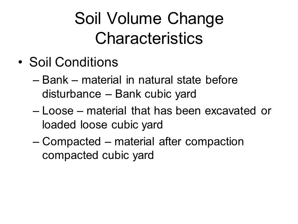 Soil Volume Change Characteristics