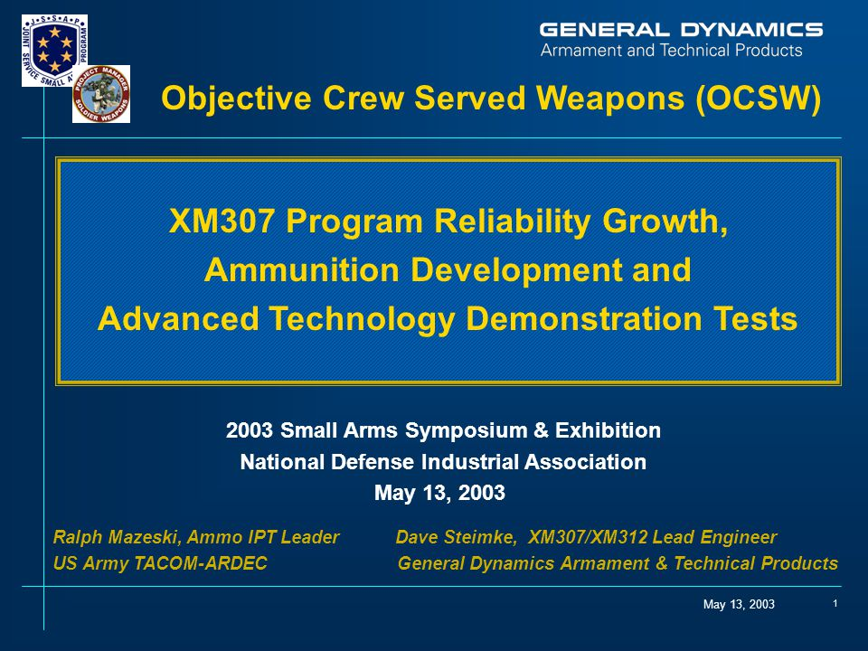 Objective Crew Served Weapons (OCSW)