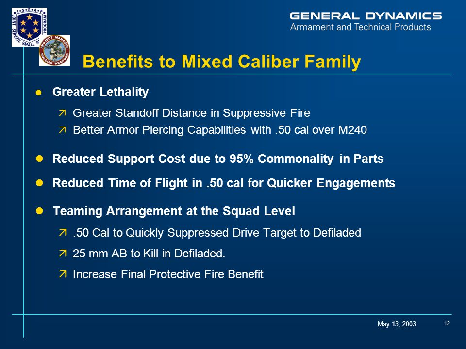 Benefits to Mixed Caliber Family
