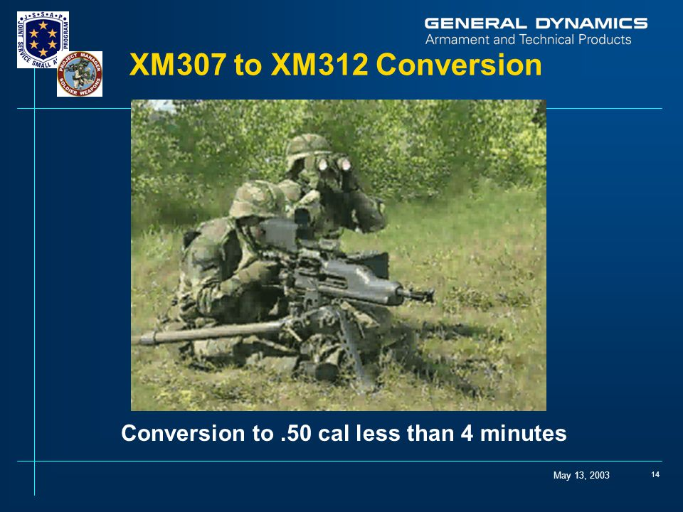 XM307 to XM312 Conversion Conversion to .50 cal less than 4 minutes