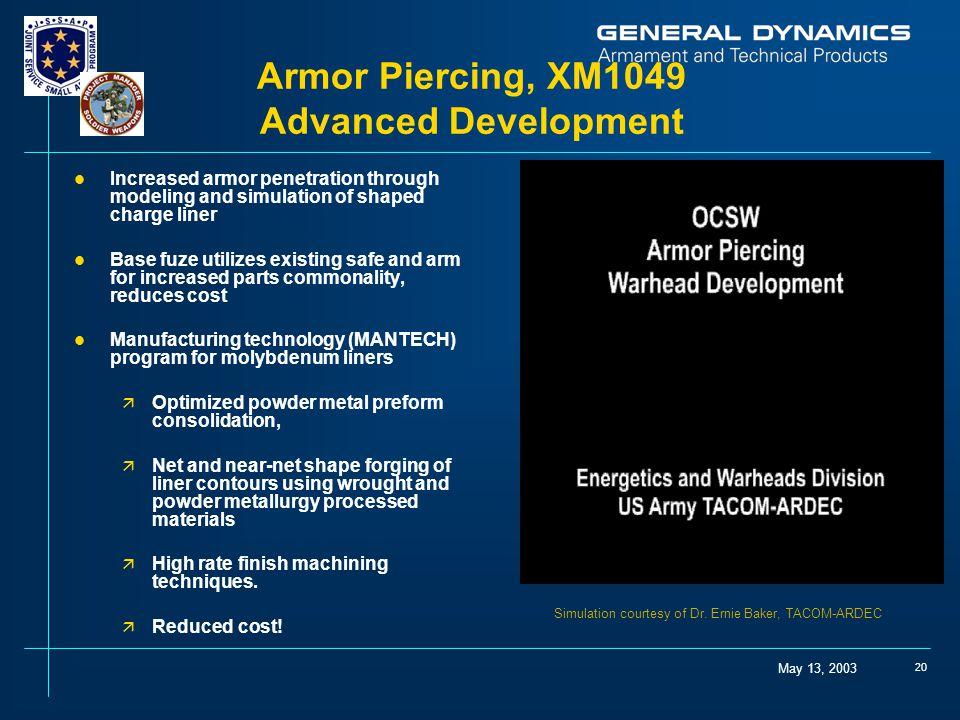 Armor Piercing, XM1049 Advanced Development
